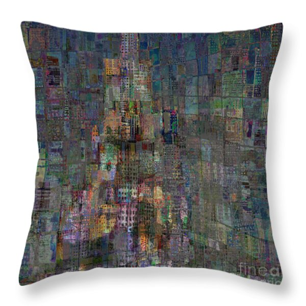 Babel Throw Pillow by Andy  Mercer