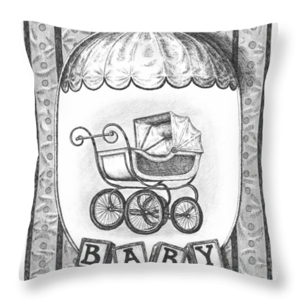 Baby Carriage Throw Pillow by Adam Zebediah Joseph