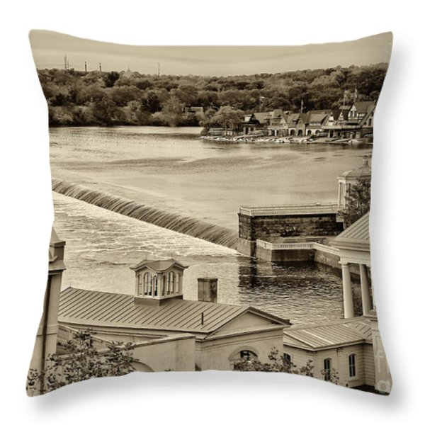 Back Of Water Works Throw Pillow by Jack Paolini