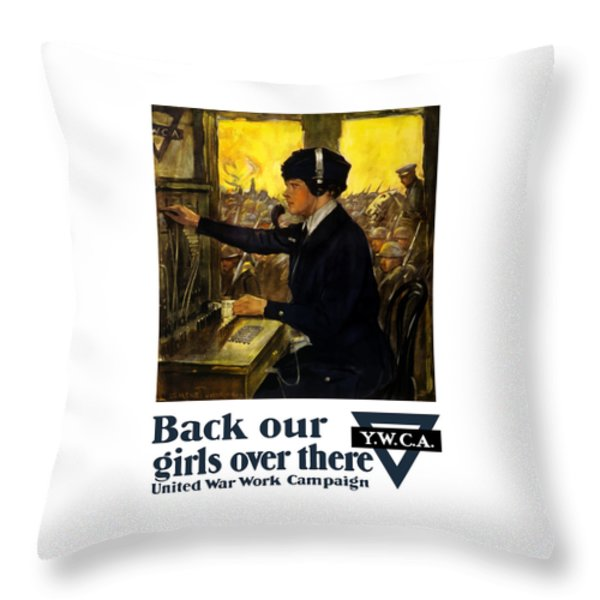 Back Our Girls Over There Throw Pillow by War Is Hell Store