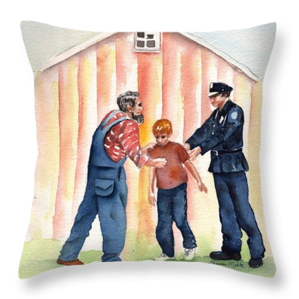 Bad Boy Throw Pillow by Sharon Mick