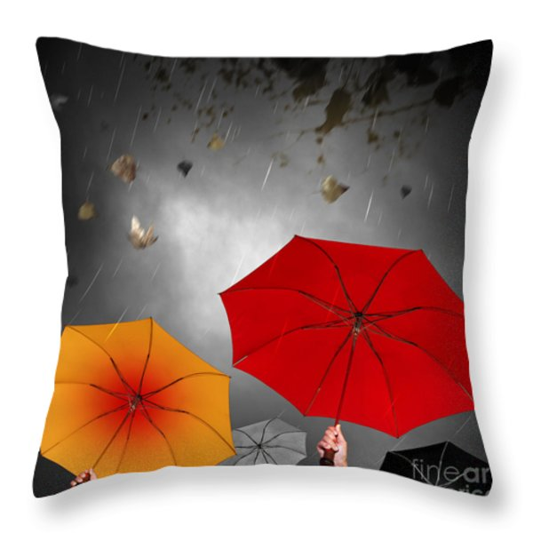 Bad Weather Throw Pillow by Carlos Caetano