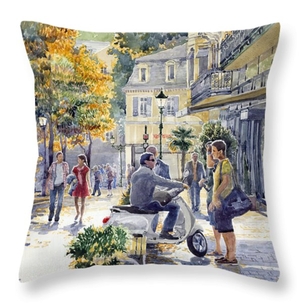 Baden-Baden Sophienstr Last Warm Day Throw Pillow by Yuriy  Shevchuk