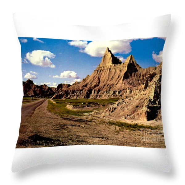 Badlands National Park  Throw Pillow by Ruth  Housley