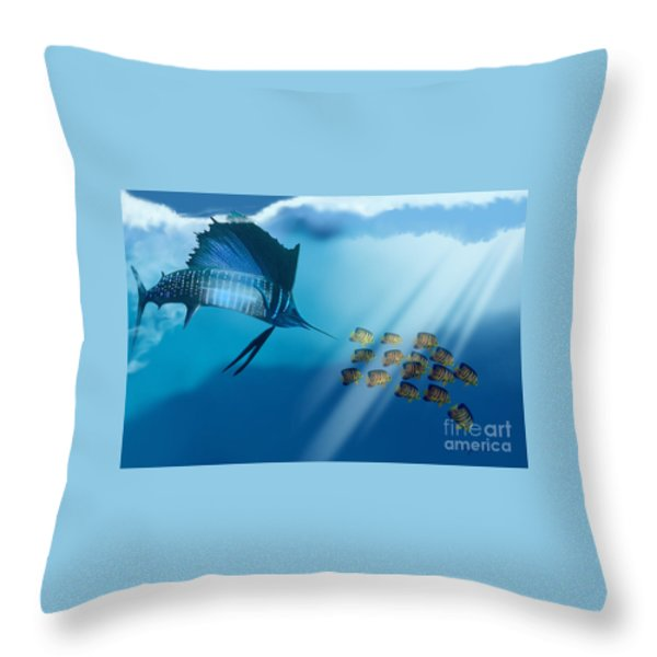 Bahama Beauty Throw Pillow by Corey Ford