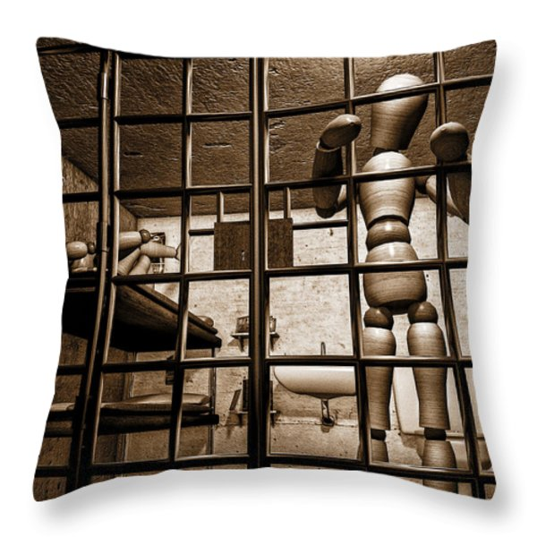 Bail Denied  Throw Pillow by Bob Orsillo