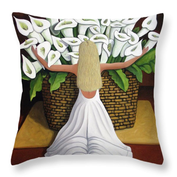 BaileyRae Lilies Throw Pillow by Lance Headlee