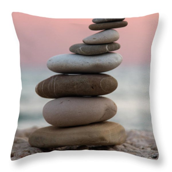 balance Throw Pillow by Stylianos Kleanthous