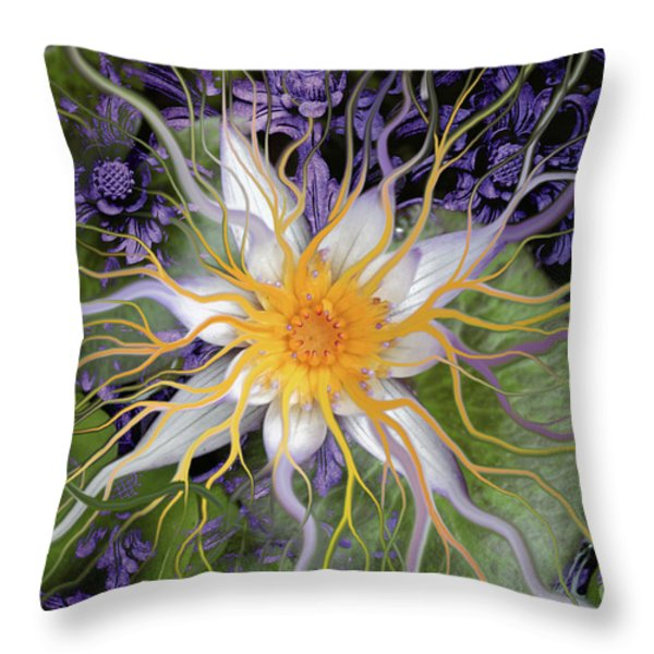 Bali Dream Flower Throw Pillow by Christopher Beikmann