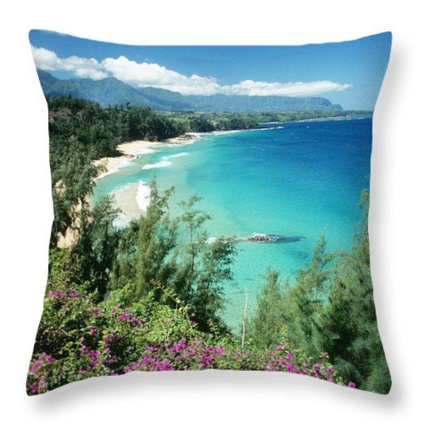 Bali Hai Beach Throw Pillow by Dana Edmunds - Printscapes