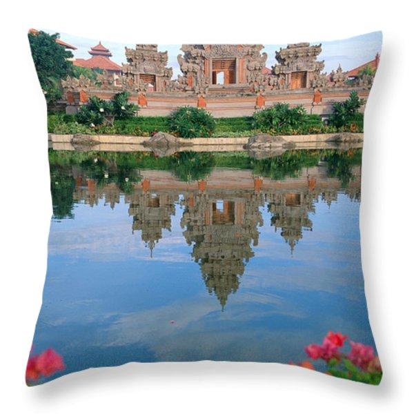 Bali, Nusa Dua Throw Pillow by Rita Ariyoshi - Printscapes
