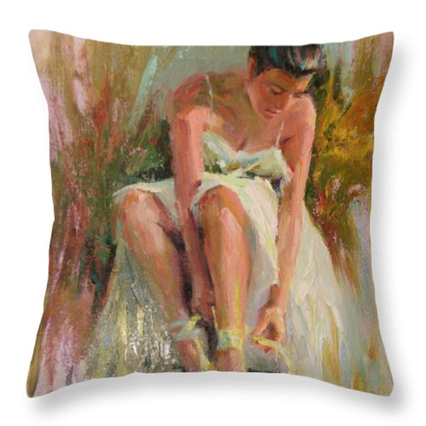 Ballerina Throw Pillow by David Garrison