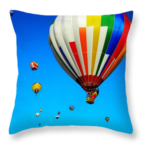 Balloon Festival Throw Pillow by Juergen Weiss