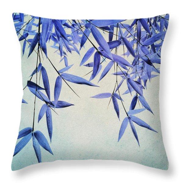 bamboo susurration Throw Pillow by Priska Wettstein