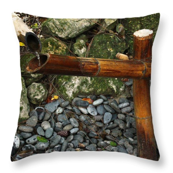 Shishi odoshi throw pillows for sale - Shishi odoshi bamboo water feature ...