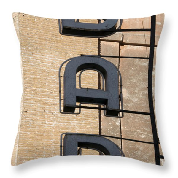 Bar. Neon writing Throw Pillow by BERNARD JAUBERT