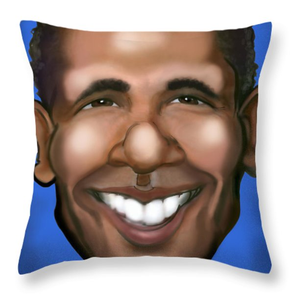Barack Obama Throw Pillow by Kevin Middleton
