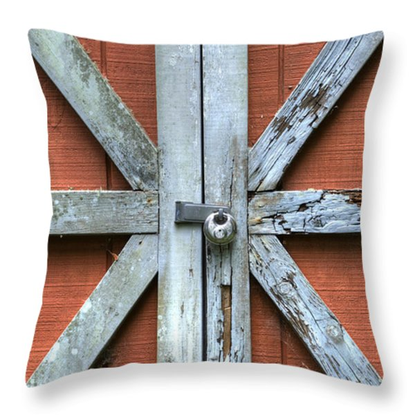 Barn Door 1 Throw Pillow by Dustin K Ryan
