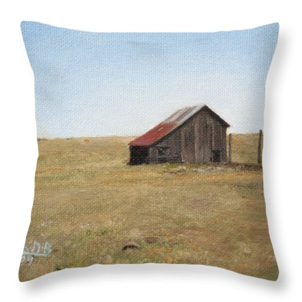 Barn Throw Pillow by Joshua Martin