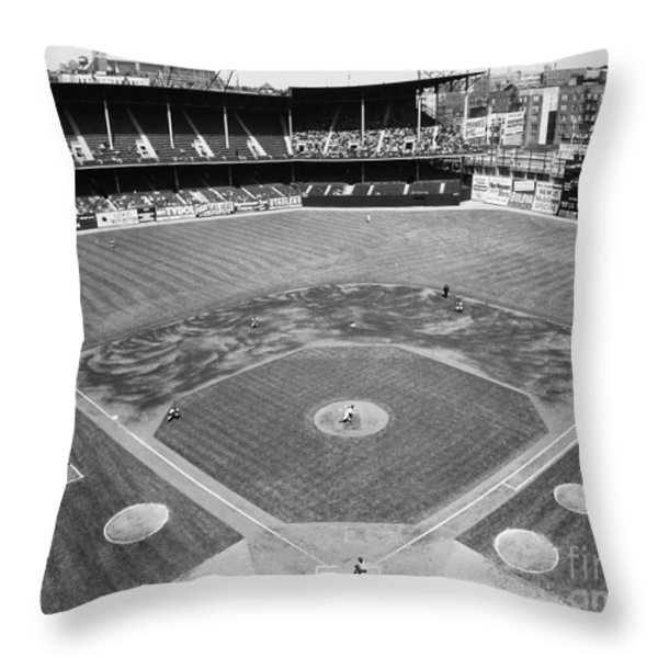Baseball Game, C1953 Throw Pillow by Granger