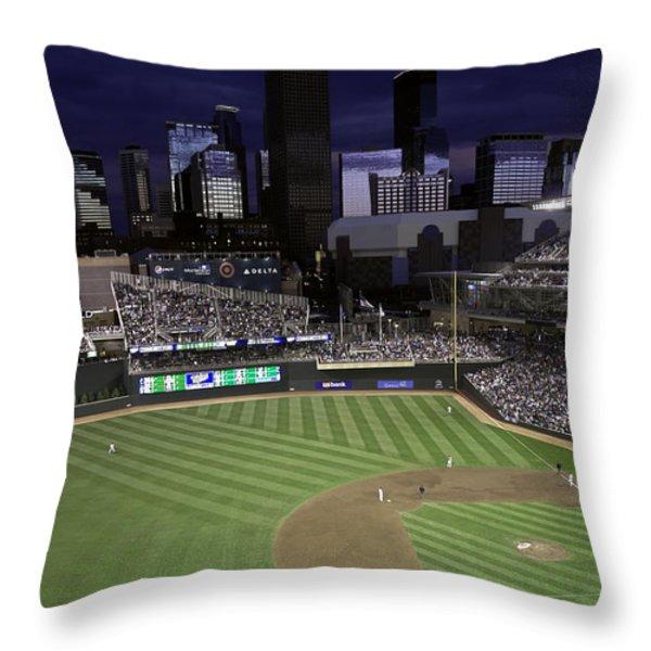 Baseball Target Field  Throw Pillow by Paul Plaine