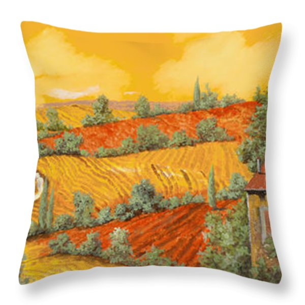 Bassa Toscana Throw Pillow by Guido Borelli