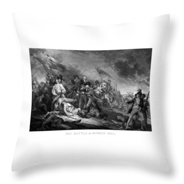 Battle of Bunker Hill Throw Pillow by War Is Hell Store