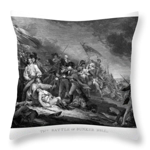 Battle of Bunker Hill Throw Pillow by War Is Hell Store
