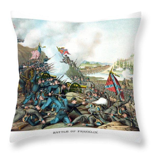 Battle Of Franklin Throw Pillow by War Is Hell Store