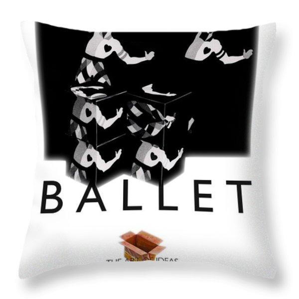 Bauhaus Ballet Poster Throw Pillow by Charles Stuart