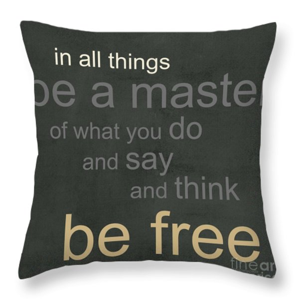 Be Free Throw Pillow by Linda Woods