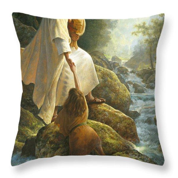 Be Not Afraid Throw Pillow by Greg Olsen