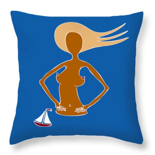 Beach Days Throw Pillow by Frank Tschakert