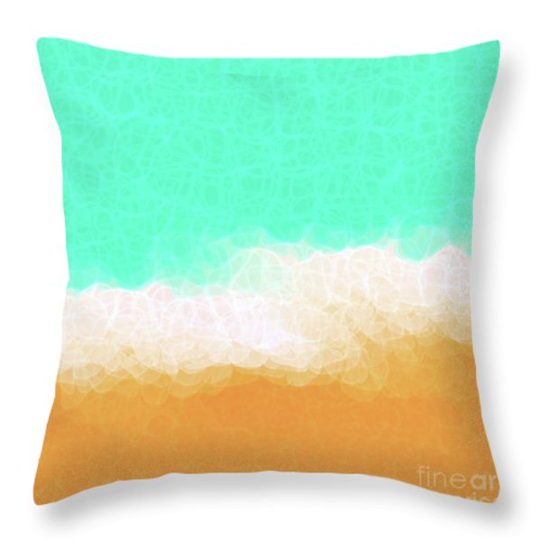 Beach Scene One Throw Pillow by Mark Lawrence