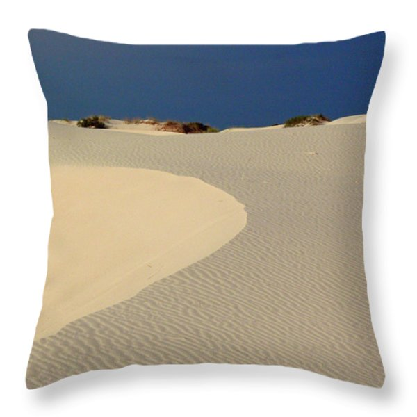 Beach With No Water Throw Pillow by Mark Grayden