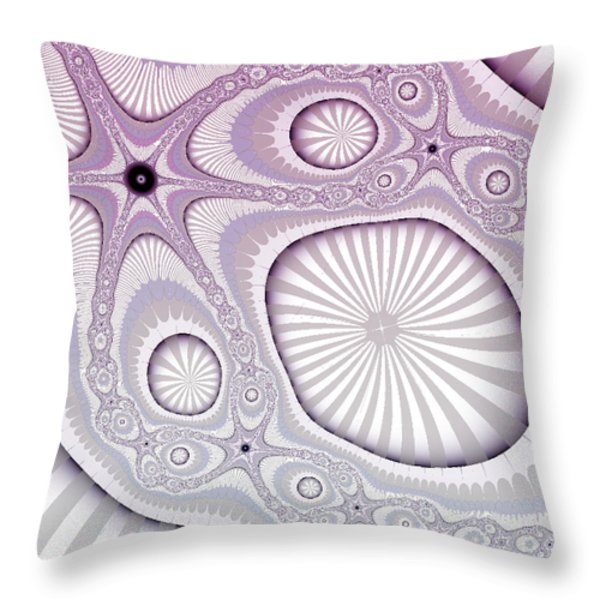 Beached Throw Pillow by Bonnie Bruno