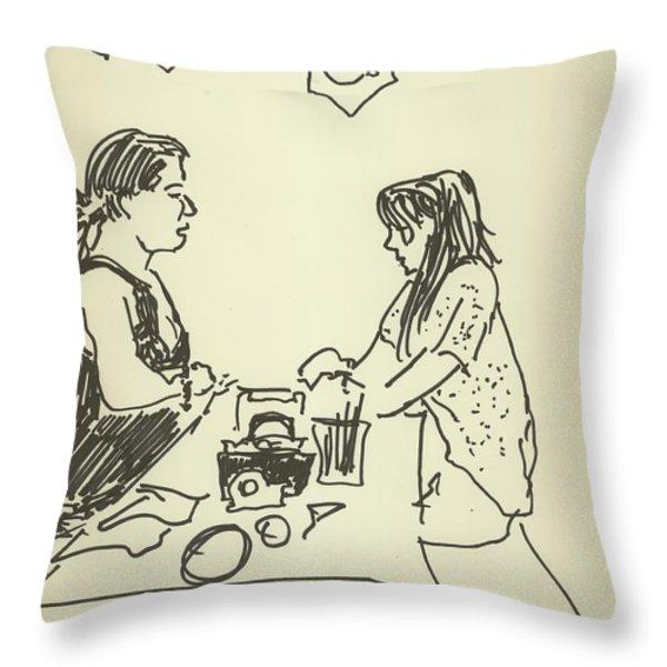 Beading Throw Pillow by James  Christiansen