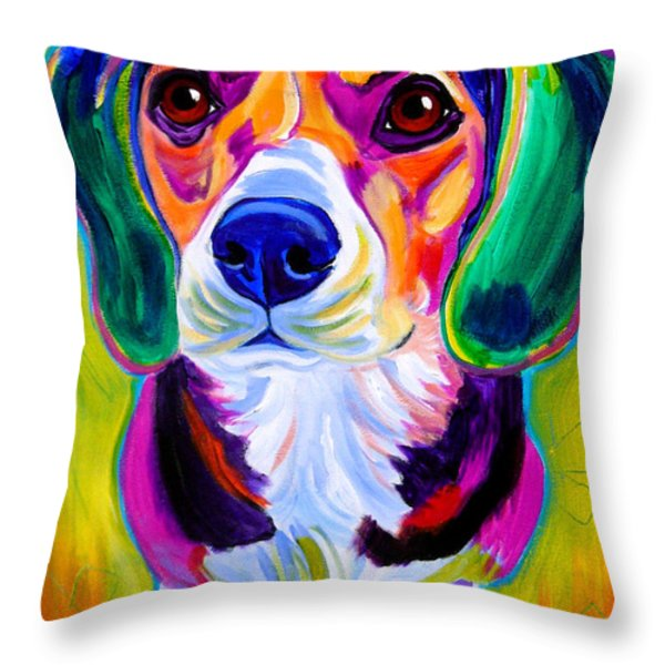 Beagle - Molly Throw Pillow by Alicia VanNoy Call