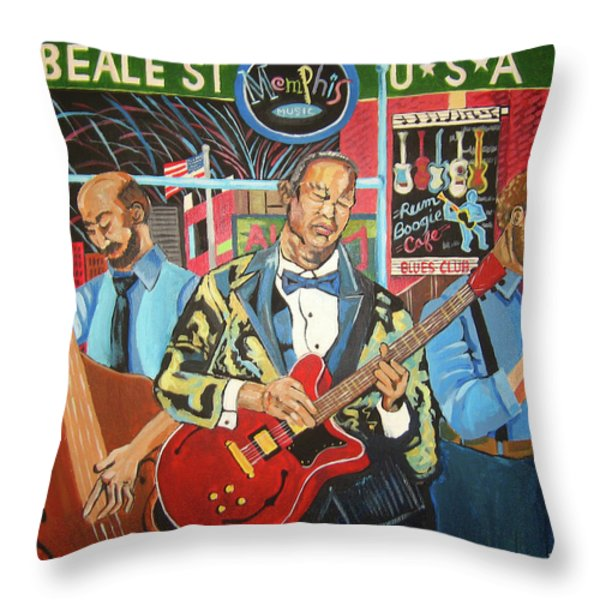 Beale Street Throw Pillow by John Keaton