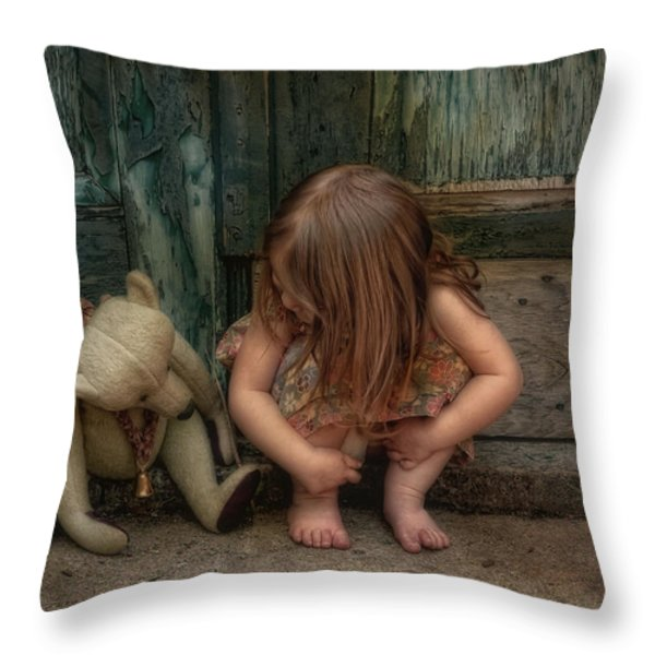 Bear Feet Throw Pillow by Robin-lee Vieira
