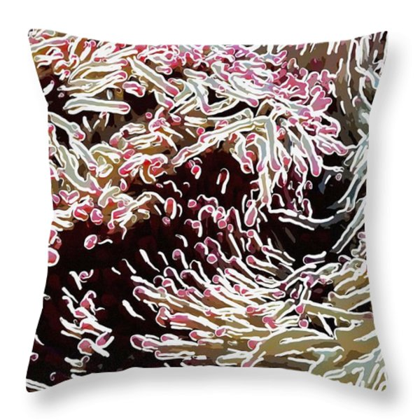 Beautiful coral reef  1 Throw Pillow by Lanjee Chee
