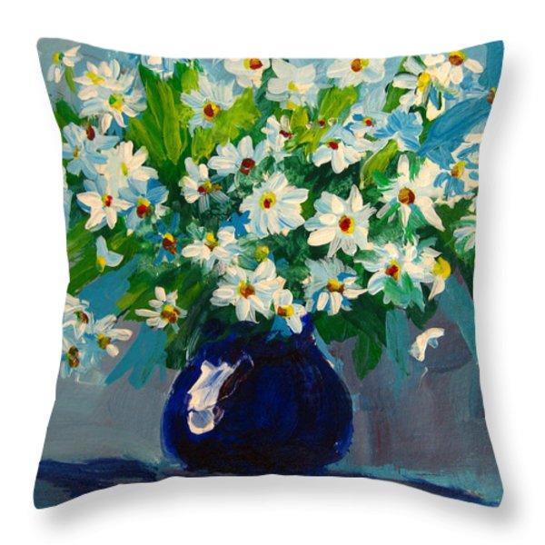 Beautiful Daisies  Throw Pillow by Patricia Awapara
