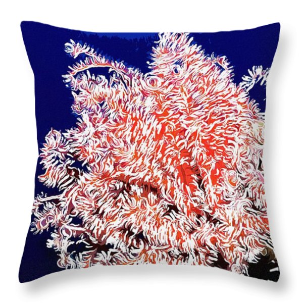 Beautiful fan coral Throw Pillow by Lanjee Chee