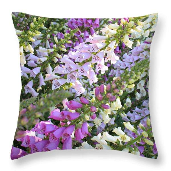 Beautiful Foxglove Throw Pillow by Carol Groenen