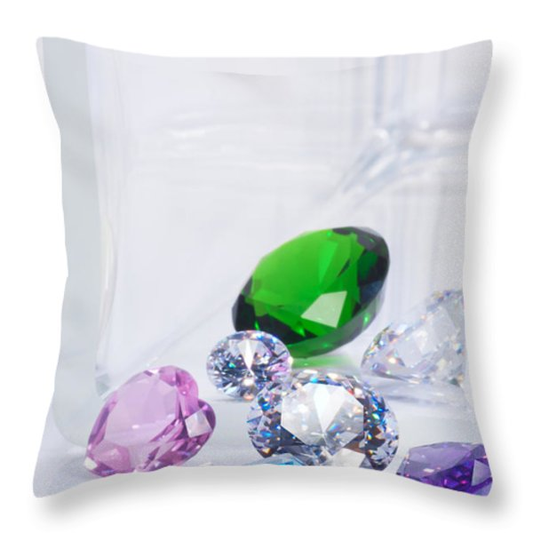 beautiful jewel Throw Pillow by ATIKETTA SANGASAENG