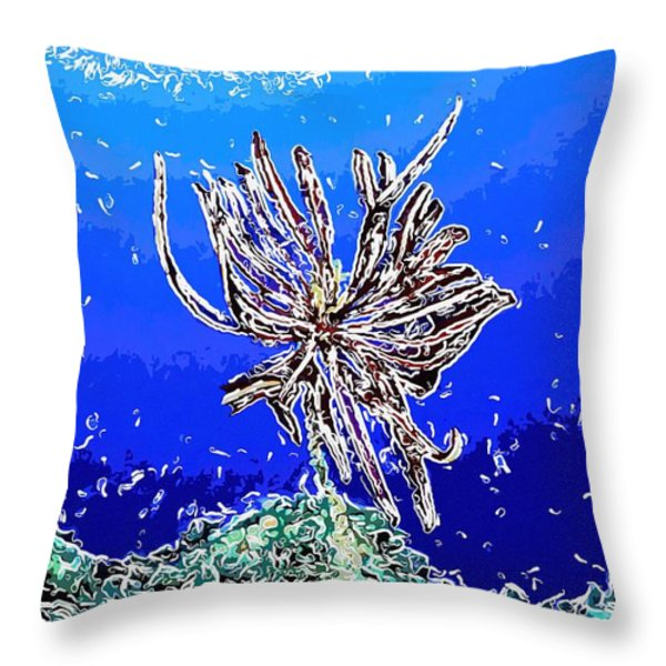 Beautiful marine plants 1 Throw Pillow by Lanjee Chee
