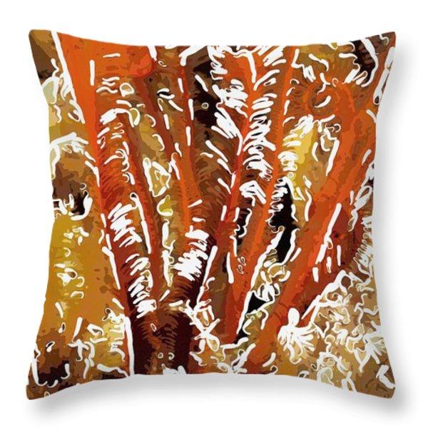 Beautiful marine plants 8 Throw Pillow by Lanjee Chee