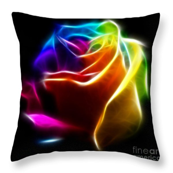 Beautiful Rose of Colors No2 Throw Pillow by Pamela Johnson