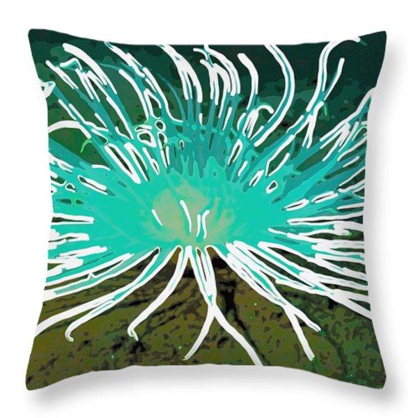 Beautiful Sea Anemone 2 Throw Pillow by Lanjee Chee