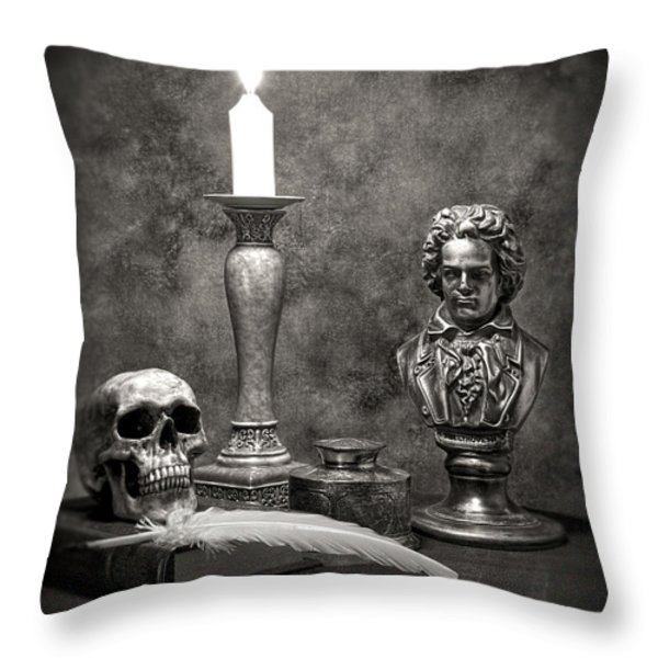Beethoven Still Life Throw Pillow by Tom Mc Nemar